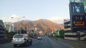 Caracas city with a view of the mountains stock image
