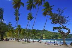 Caracas fjärd i Trinidad som är karibisk Fotografering för Bildbyråer