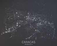 Caracas map, Venezuela, Central America Royalty Free Stock Photography