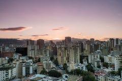 Caracas-Sonnenuntergang, Westansicht lizenzfreie stockbilder