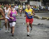 Caracas, Venezuela - April 24, 2016: marathon runners at CAF Marathon 42K. Stock Photo