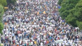 Caracas Venezuela circa 2017 Protest for freedom in Venezuela. large crowd