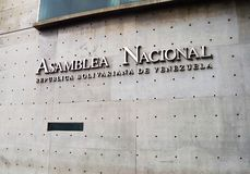 Front view of Venezuelan National Assembly in Caracas stock image