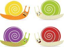 Caracóis dos desenhos animados Fotografia de Stock Royalty Free