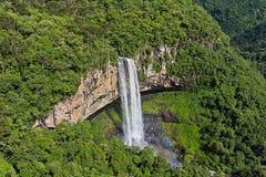 Caracol瀑布-卡内拉市,南里奥格兰德州-巴西 库存照片
