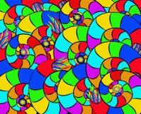 Caracol abstrato snailsColorful abstrato colorido Imagem de Stock
