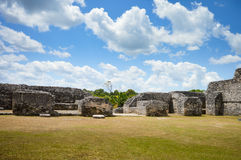 Caracol archeological site of Mayan civilization in Western Belize. Some ancient structures at Caracol archeological site of Mayan civilization in Western Belize Royalty Free Stock Images