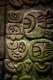 Caracol Belize glyphs Royalty Free Stock Image
