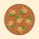 Caracol cocinado caracol Imagen de archivo