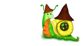 Caracol com casa Fotos de Stock Royalty Free