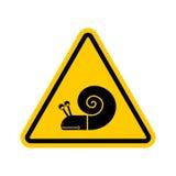 Caracol de la atención Señal de tráfico amarilla del peligro Conductor lento Caution stock de ilustración