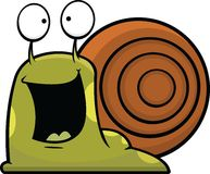 Caracol de la historieta feliz Foto de archivo libre de regalías
