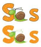 Caracol de la letra S Imágenes de archivo libres de regalías