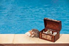 Caracol de la piscina del cofre del tesoro foto de archivo libre de regalías