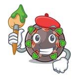 Caracol del artista aislado con en la mascota libre illustration