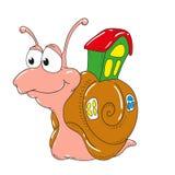 Caracol del personaje de dibujos animados en el fondo blanco Imagen de archivo libre de regalías
