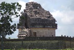caracol el Observatoriet av Chichen Itza, Mexico Arkivfoton