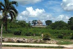 caracol el Observatoriet av Chichen Itza, Mexico Royaltyfri Bild