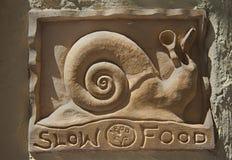 Caracol lento de la comida Fotografía de archivo