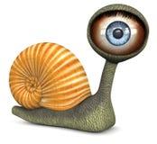 Caracol (olho azul da cor) ilustração do vetor