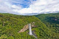 Caracol siklawa - Canela miasto, rio grande robi Sul, Brazylia - Fotografia Stock
