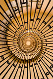 Caracole. Architectural element of the spiral staircase Stock Images