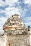 caracolen chichen tempelet för el-itzaobservatoriumet Arkivbild