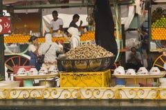 Caracoles cocinados Imagenes de archivo