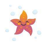 Caractère adorable d'étoiles de mer Images stock