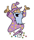 Caractère amical de magicien illustration de vecteur