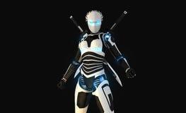 Caractère androïde Photos libres de droits