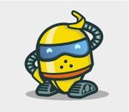 Caractère animé de robot mignon pour la conception illustration libre de droits