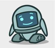 Caractère animé de robot mignon pour la conception illustration stock