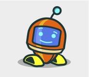 Caractère animé de robot mignon pour la conception illustration de vecteur