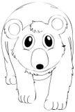 Caractère animal de griffonnage pour l'ours Photo stock