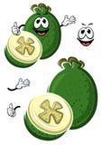 Caractère australien de fruit de feijoa de bande dessinée Image stock