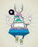 Caractère bizarre de hippie de triangle illustration libre de droits