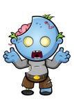Caractère bleu de zombi de bande dessinée Images libres de droits