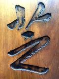 Caractère chinois de gravure sur bois, calligraphie image libre de droits