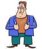 Caractère comique de bande dessinée heureuse d'homme illustration libre de droits