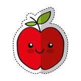 Caractère comique de fruit frais d'Apple Photographie stock