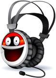 Caractère d'écouteurs. Images libres de droits