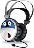 Caractère d'écouteurs Photo stock