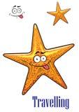 Caractère d'étoiles de mer d'océan de bande dessinée Photos stock