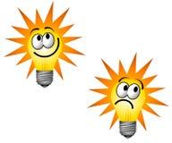 Caractère d'ampoule de Cartoonish Images stock