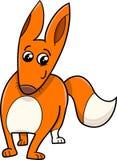 Caractère d'animal de bande dessinée de Fox Images stock