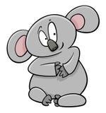 Caractère d'animal de bande dessinée de koala Images stock