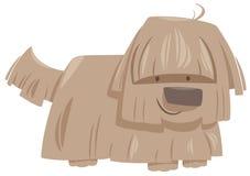 Caractère d'animal de chien hirsute illustration stock