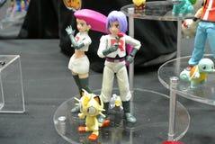 Caractère d'Anime des bandes dessinées de Pokemon et du nombre d'actions fictif de jeux image stock