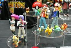 Caractère d'Anime des bandes dessinées de Pokemon et du nombre d'actions fictif de jeux photographie stock
